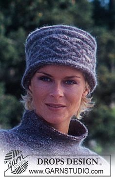 "Oversizes DROPS Pullover and Hat/Head band in ""Alpaca"" and ""Kid-Silk"". ~ DROPS Design"