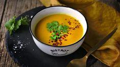 Recept na mrkvovou polévku s kokosovým mlékem, zázvorem a chilli Cantaloupe, Soup, Fruit, Ethnic Recipes, Turmeric, Soups