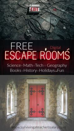 Free Digital Escape Rooms for Learning FREE digital escape rooms for kids and adults! Harry Potter, Alice in Wonderland, geography, scienc Escape Room Diy, Escape Room For Kids, Escape Room Puzzles, Escape Room Online, Room Escape Games, Escape Room Themes, Adulte Halloween, Virtual Field Trips, Family Game Night