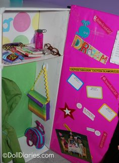 How to make an American Girl doll sized school locker from dolldiaries.com.