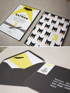 awesome Batman party invites