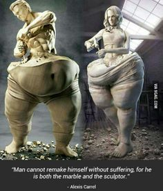 """/fph/ Fat People Hate /fps/ Fat People Stories - """"/fit/ - Fitness"""" is imageboard for weightlifting, health, and fitness. Weight Loss Motivation, Fitness Motivation, Friday Motivation, Motivation Goals, Fitness Goals, Sculpter Son Corps, Oeuvre D'art, Sculpture Art, Fitness Inspiration"""