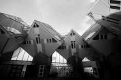 #architecture #black and white #city #cube #house #rotterdam #urban