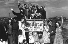This picture was taken after The Allies liberated The Netherlands. Canadians and The Allies walked through Holland and gave the land back to the people. That's why people in Holland still send us flowers today. This moment and event was important in not only the history of Canadians but also for the inhabitants of Holland. They were freed from the hold of the Nazi's. People were able to be free and no longer be under the control of the Fascist Nazi party.