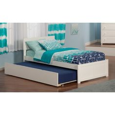 Atlantic Furniture Urban Lifestyle Orlando Bed with Trundle & Reviews   Wayfair