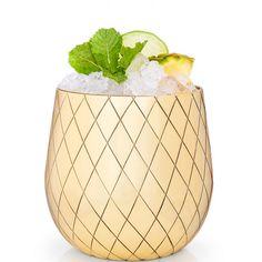 Large Gold Pineapple Cocktail Tumbler - Waiting On Martha - 5