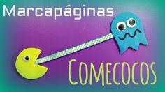 Comecocos Pac-Man. Marcapáginas para niños con goma eva - http://www.manualidadeson.com/marcapaginas-comecocos-ninos.html