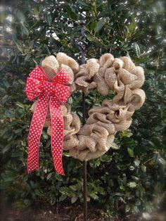 Heart Shaped Wreath  Valentine Wreath  Burlap by WreathsByRebeccaB, $29.00