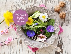 spring salad mix with edible flowers - Acquista questa foto stock ed esplora foto simili in Adobe Stock Spring Salad, Edible Flowers, Cabbage, Menu, Rustic, Table Decorations, Vegetables, Plants, Food