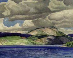 A.J. Casson, Lake Mazinaw, 1952 10.75x13.5 inches