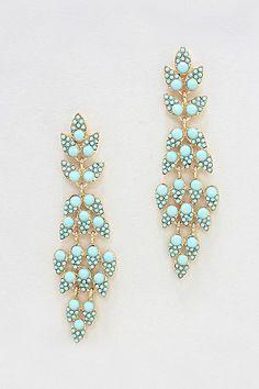 Josephine Earrings in Mint//