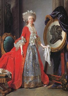 Madame Adelaide of France, daughter of Louis XV, by Adelaide Labille-Guiard, 1787.