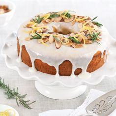 Lemon-Rosemary Bundt Cake