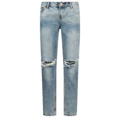 One Teaspoon Awesome Baggies Ripped Boyfriend Jeans ($435) ❤ liked on Polyvore featuring jeans, pants, blue ripped jeans, cuffed jeans, torn boyfriend jeans, destructed boyfriend jeans and baggy jeans