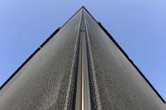 Non flammable fabric mesh (for facade cladding) STAMISOL FTP 35 SERGE FERRARI
