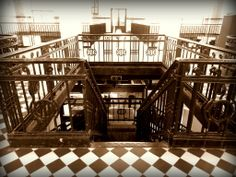 pictures of staircase in old mining building i took, Stad Genk