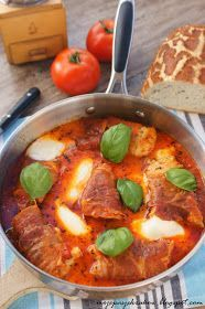 moje pasje: Kurczak po włosku w pomidorach z mozarellą