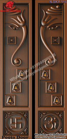 Front Door Design Wood, Double Door Design, Pooja Room Door Design, Wooden Door Design, Home Room Design, House Ceiling Design, Bedroom False Ceiling Design, Single Main Door Designs, Door Design Images