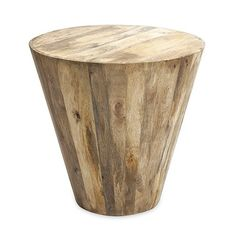 Simplicity At Its Most Natural: The Quiet Charm Of Wood Comes To Life With  This Versatile Side Table. Crafted Out Of Solid Mango Wood, It Can Be  Placed ...