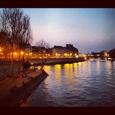 """Dusk along the Seine"" by @ednacz"