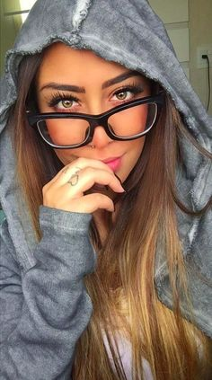 Image about girl in Neymar💛💚 by Barça-Bridgit Little Bit, Neymar Jr, Woman Crush, Fashion Beauty, Eyes, Glasses, Pretty, Hair, Image