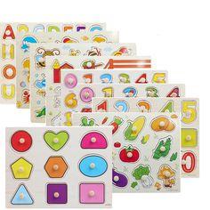 Günstige Baby holzspielzeug Montessori materialien form passende lernen ABC vorschule kindergarten spielzeug puzzle pädagogisches spielzeug, Kaufe Qualität Puzzles direkt vom China-Lieferanten:  Baby holzspielzeug Montessori materialien form passende lernen ABC vorschule kindergarten spielzeug puzzle pädagogische