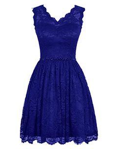 Diyouth Elegant Short V Neck Lace Casual Party Cocktail Bridesmaid Dress Royal Blue Size 2 Diyouth http://www.amazon.com/dp/B00XY6YUT4/ref=cm_sw_r_pi_dp_pRhMwb0W0ZGVS