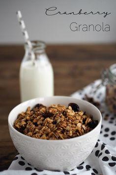 Cranberry-Granola für ein gutes Frühstück