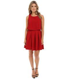 Brigitte Bailey Gillian Sleeveless Popover Dress w/ Open Back