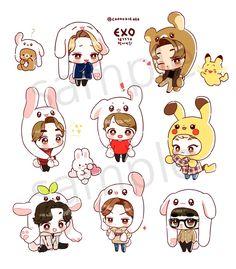 (1) jess 🍒 (@exojyeol)   Twitter Naruto Chibi, Chibi Manga, Chibi Cat, Chanbaek Fanart, Kpop Fanart, Hunhan, Exo Stickers, Cute Stickers, Chibi Tutorial