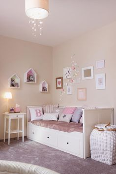 30 Chic And Modern Ideas For Your Girl Bedroom. 30 Chic And Modern Ideas For Your Girl Bedroom - Feed My Design. Checkout these chic and modern bedroom ideas. Thirty chic and modern girl bedroom ideas you can copy now. Feed your design ideas now. Small Room Bedroom, Baby Bedroom, Bedroom Decor, Bedroom Ideas, Modern Bedroom, Ikea Girls Room, Bedroom Designs, Daybed Room, Little Girl Rooms