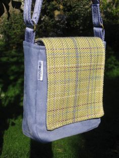 Lilac & Green tweed mini-messenger bag £35.00