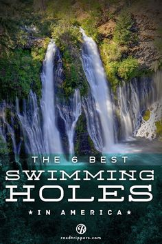 """Summer fun! Another pinner said: """"If you're not ready for winter yet, here are some waterfall slides, grotto pools, and deep, cavernous wells to keep you dreaming of summer."""""""