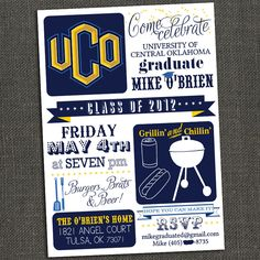 High School or College Graduation Party by michelepurnerdesigns
