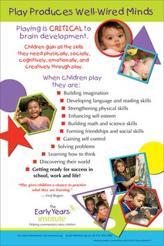 The Early Years Institute shares what children learn through play!