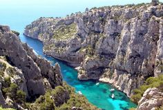 Cassis.  Snorkeled here for the first time.  I miss this crazy lovely place!