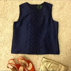 C. Wonder never worn navy blue top This beautiful C.Wonder top is so versatile; Dress it up or dress it down! Gorgeous shade of navy. Never been worn, still has tags. (Is a little big on me, otherwise, I love it!) C. Wonder Tops