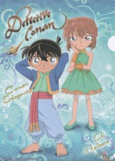 Conan Edogawa and Haibara Ai
