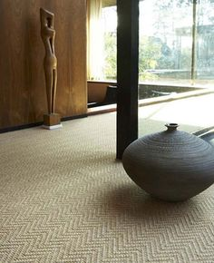 Wool Herringbone carpet from Crucial Trading - For stairs and hall upstairs? Stair Runner Carpet, Carpet, Neutral Carpet, Flooring, Interior Design Courses, How To Clean Carpet, Texture Carpet, Flooring Inspiration, Natural Flooring