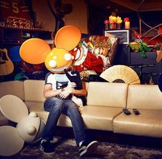 Deadmau5 and his lovely cat Meowingtons