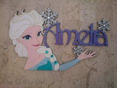 Frozen Bedroom Door / Wall Plaque Elsa Anna Mickey Mouse Any Character Personalised Wooden Mdf Name Wooden Sign