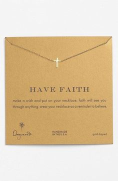 Dogeared 'Reminder - Faith' Pendant Necklace available at #Nordstrom