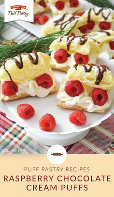 Add a little something special to your holiday dessert table with these Raspberry Chocolate Cream Puffs. Pepperidge Farm® Puff Pastry Sheets come together with heavy whipping cream, powdered sugar, melted chocolate, and fresh raspberries to create this festive winter treat. Click here to get the full recipe from Amy, of Sizzling Eats.
