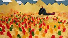 Dune (Frank Herbert) recreated with candy!