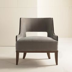 Salon Lounge Chair Nutmeg Birch by Barbara Barry