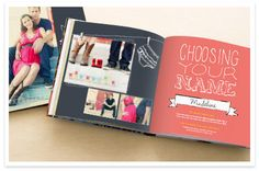 Really cute custom photo books at this site