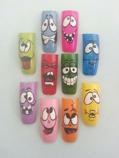How do you feel? 3d Nails, Swag Nails, Acrylic Nails At Home, Brittle Nails, Manicure Y Pedicure, Nail Art Brushes, Easter Nails, Funky Nails, Pretty Nail Art