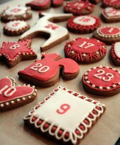 Gingerbread Advent Calendar...simply beautiful!