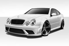 1998-2002 Mercedes CLK W208 Duraflex Black Series Look Wide Body Kit - 8 Piece