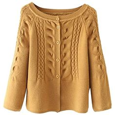 21955bbb8e Women s Fashion Cable Knit Cardigan Sweater Coat Bomber Jacket     Be sure  to check